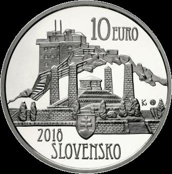 Словакия монета 10 евро 150-летие со дня рождения Душана Самуэля Юрковича, аверс