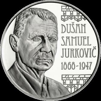Словакия монета 10 евро 150-летие со дня рождения Душана Самуэля Юрковича, реверс