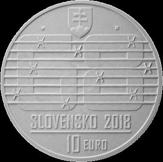 Словакия монета 10 евро Восстание 1968 года, аверс