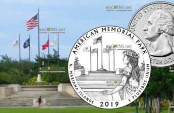 США 25 центов Американский мемориальный парк на острове Сайпан