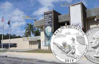 США 25 центов Война на Тихом океане Национальный монумент воинской доблести (Гуам)