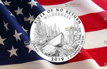 США монета четверть доллара Заповедник Фрэнк Чёрч Необратимая река