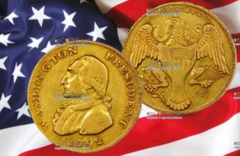 США золотой доллар 1792
