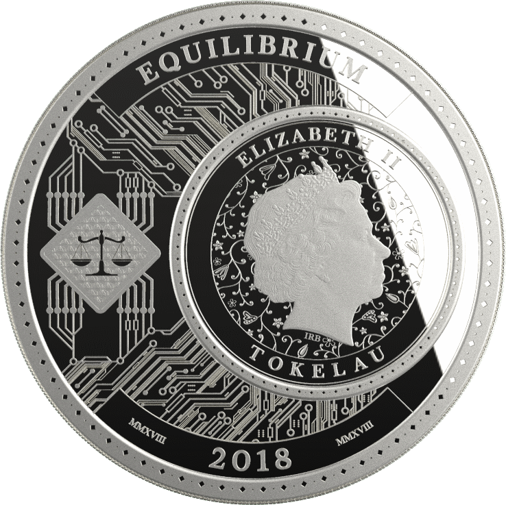 Токелау монета 5 долларов Равновесие, аверс