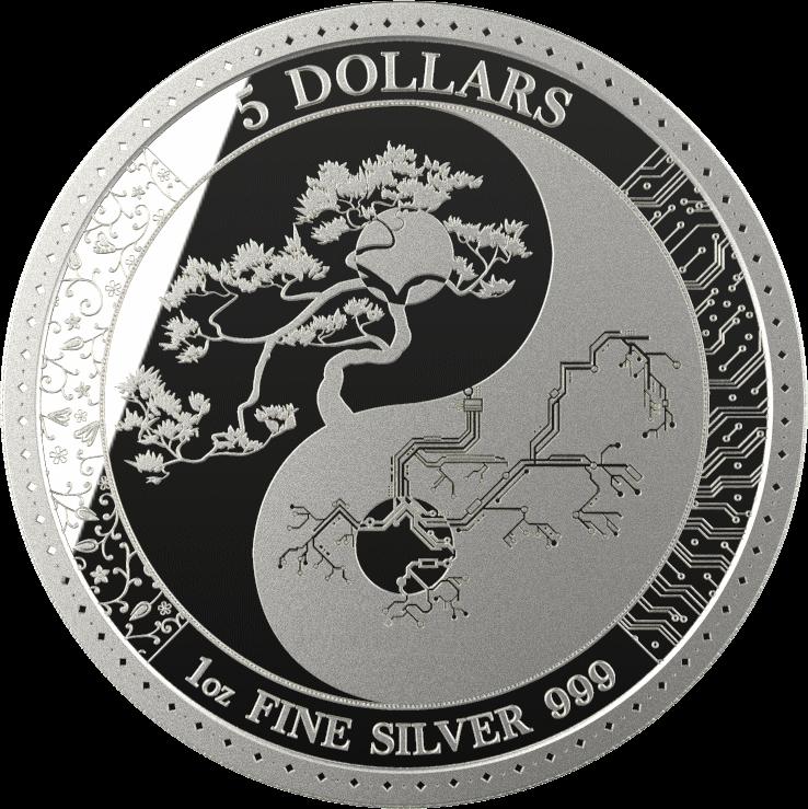 Токелау монета 5 долларов Равновесие, реверс