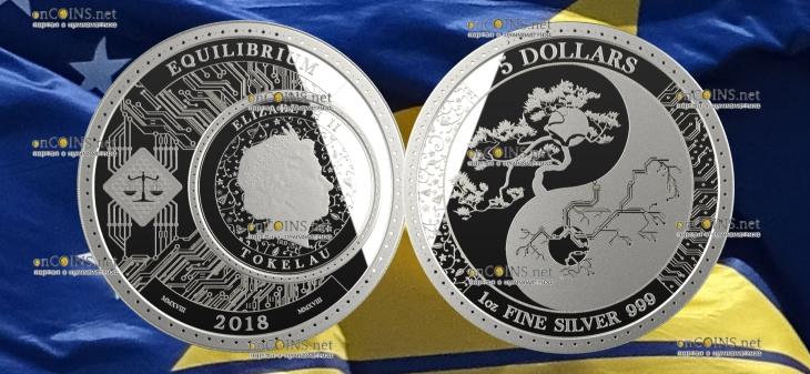 Токелау монета 5 долларов Равновесие