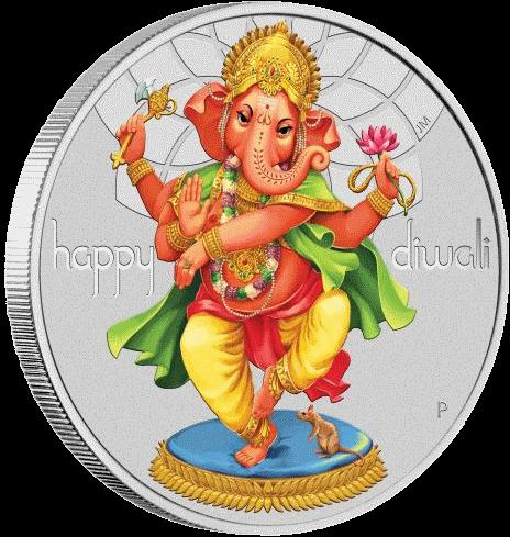 Тувалу монета 1 доллар Фестиваль Дивали, реверс