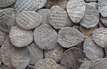 В Подмосковье нашли уникальный клад серебряных монет