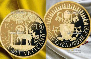Ватикан монета 100 евро Литургия