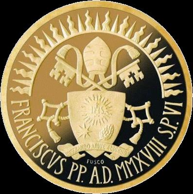 Ватикан монета 100 евро Литургия, реверс