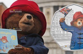 Великобритания монета 50 пенсов Медвежонок Паддингтон