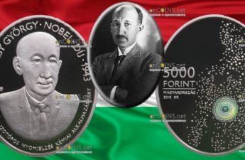 Венгрия монета 5000 форинтов Дьёрдь де Хевеши
