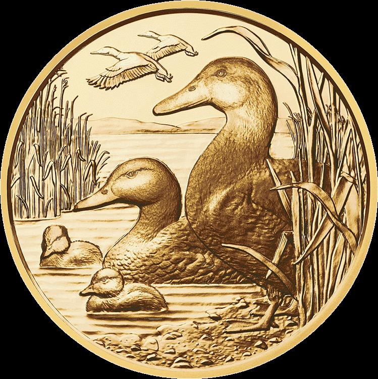 Австрия монета 100 евро Кряква, реверс