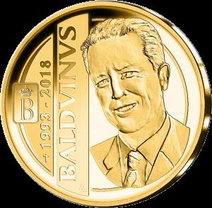 Бельгия монета 100 евро 25 лет со дня кончины короля Бельгии Бодуэн, реверс