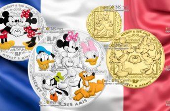 Франция серия монет Микки и его друзья - 2018 год