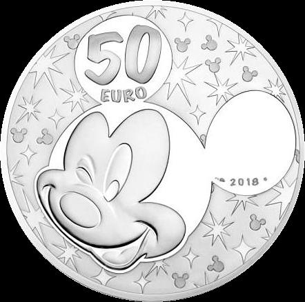 Франция монета 50 евро Микки и друзья, аверс
