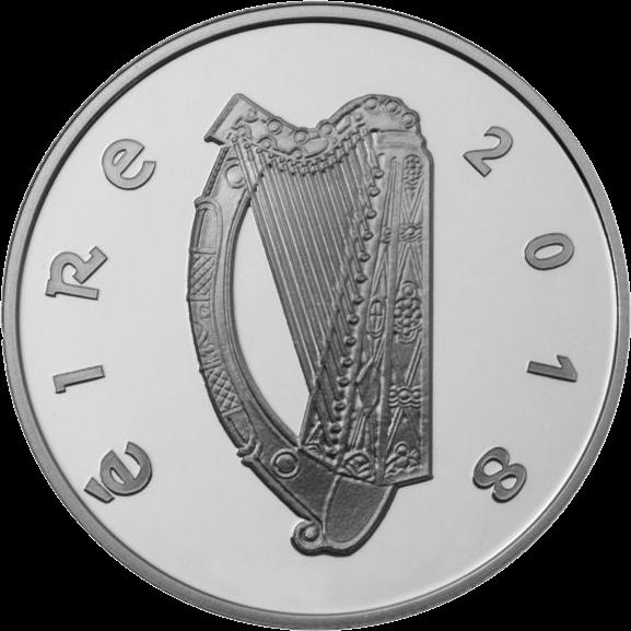 Ирландия монета 15 евро Рори Галлахер, аверс