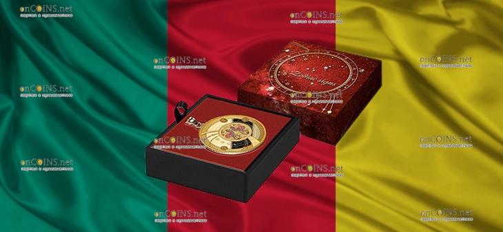 Камерун монета 500 франков КФА Близнецы (Знаки Зодиака), подарочная упаковка
