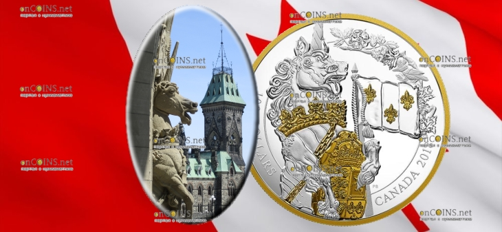 Канада монета 100 долларов Единорог