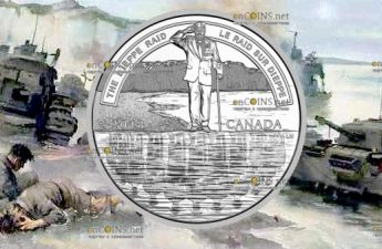 Канада монета 20 долларов Битва за Дьеп