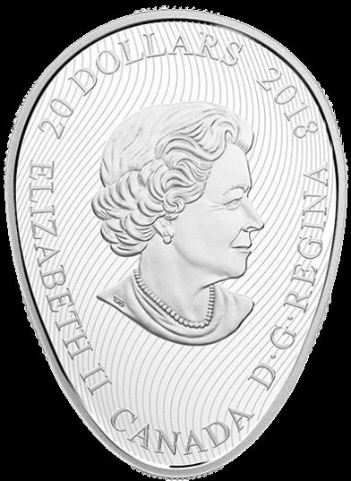 Канаде монета 20 долларов Четыре сезона кленового листа, аверс