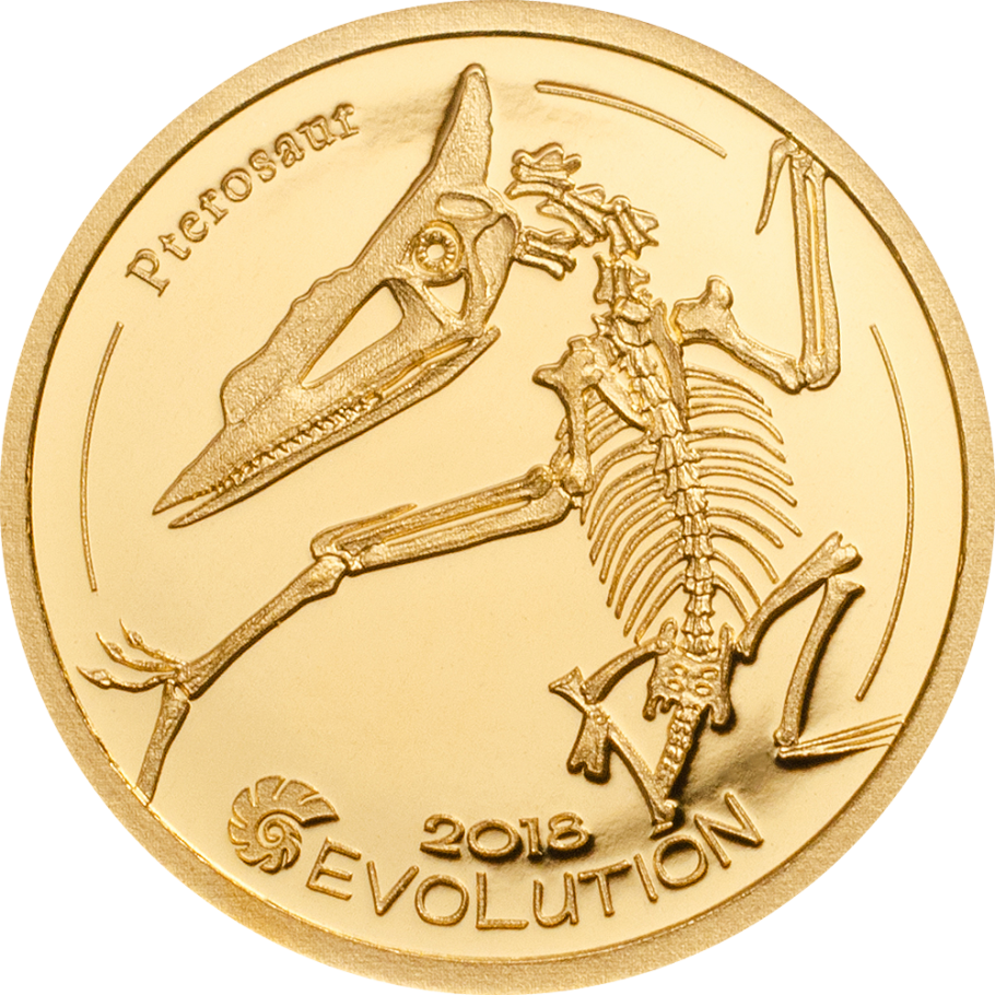 Монголия монета 1000 тугриков Птерозавр, реверс