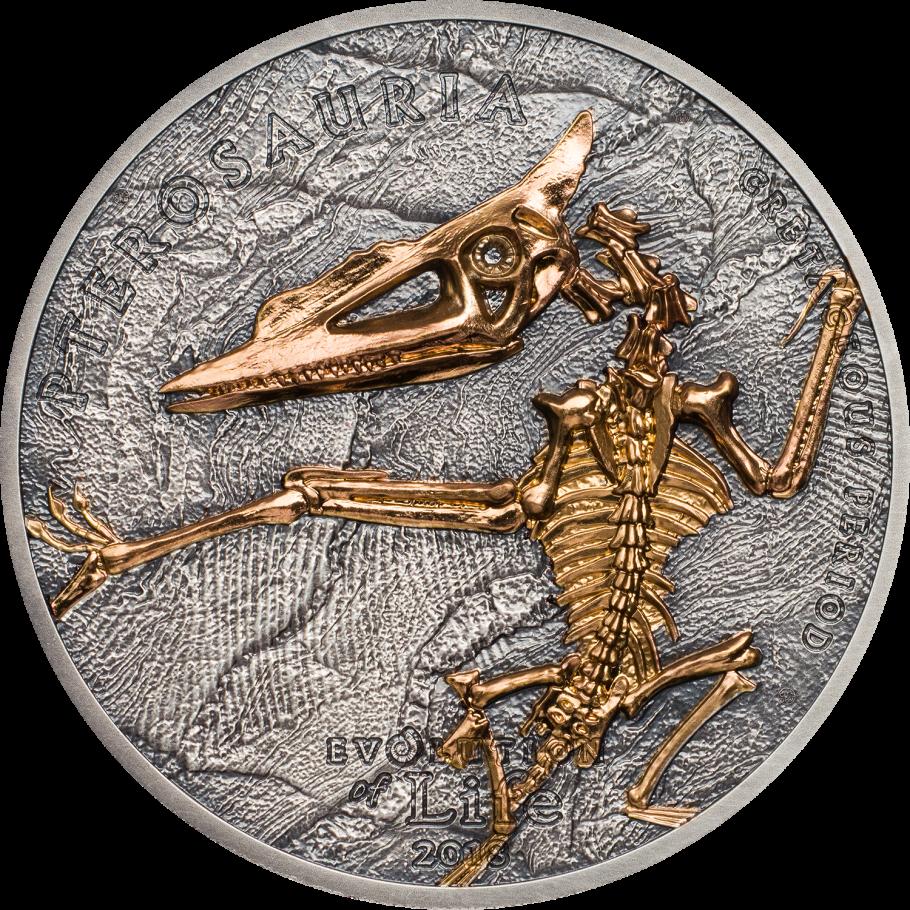 Монголия монета 500 тугриков Птерозавр, реверс