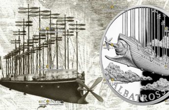 Ниуэ монета 1 доллар Дирижабль Альбатрос