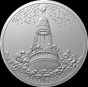 Ниуэ монета 1 доллар Лунная пушка Колумбиада, реверс