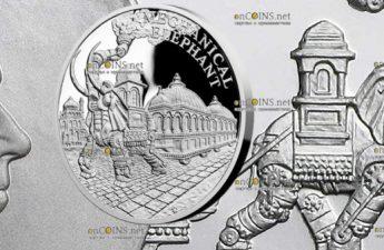 Ниуэ монета 1 доллар Паровой механический слон