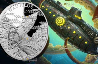 Ниуэ монета 1 доллар Субмарина Наутилус