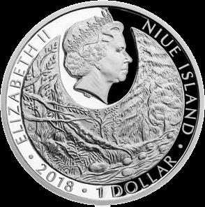 Ниуэ монета 1 долларов исчезающая природа (птицы, животные) 2018, аверс