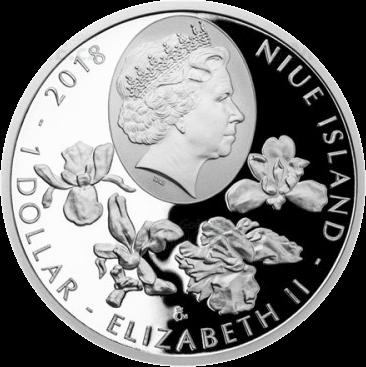 Ниуэ монета 1 долларов исчезающая природа (растения) 2018, аверс