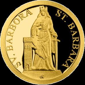 Ниуэ монета 5 долларов Святая Барбара, реверс