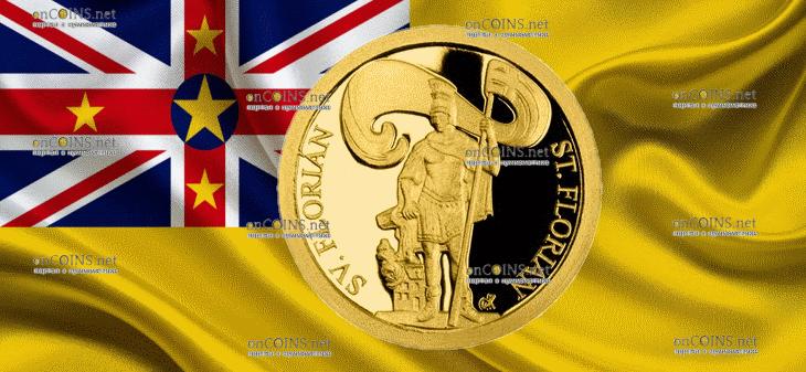 Ниуэ монета 5 долларов Святой Флориан