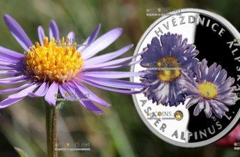 Ниуэ выпустило монету 1 доллар Астра альпийская