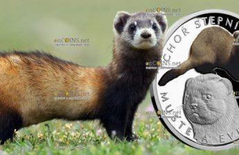 Ниуэ выпустило монету 1 доллар Степной хорек