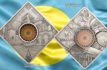 Палау монета 10 долларов Храм Гроба Господня