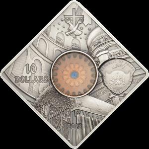 Палау монета 10 долларов Храм Гроба Господня, аверс