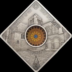 Палау монета 10 долларов Храм Гроба Господня, реверс
