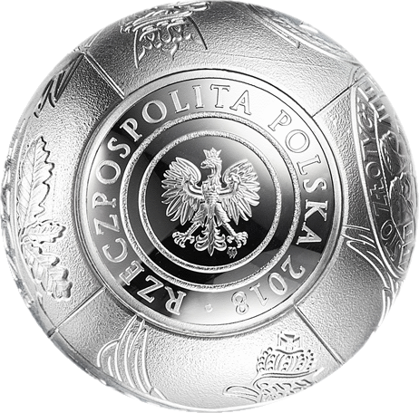 Польша монета 100 злотых 100 лет восстановления независимости Польши, аверс