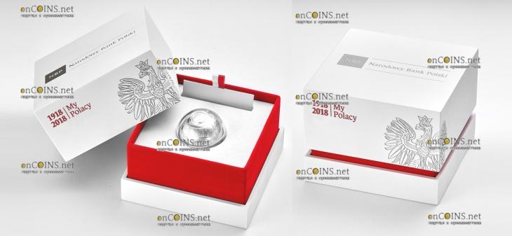 Польша монета 100 злотых 100 лет восстановления независимости Польши, подарочная упаковка
