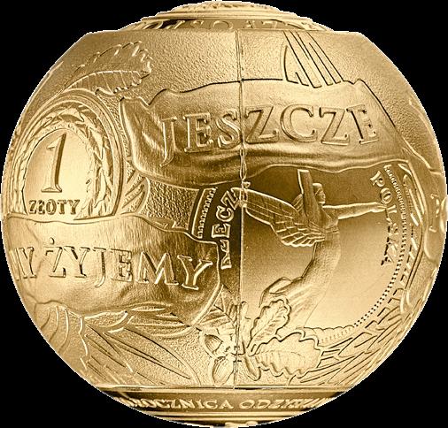 Польша монета 2018 злотых 100 лет восстановления независимости Польши, 1-й сегмент