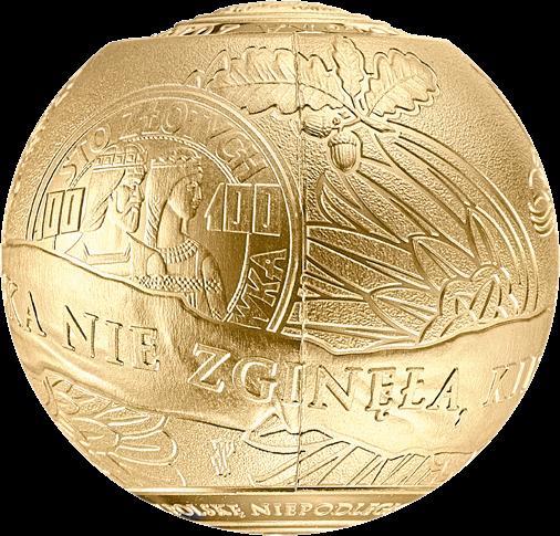 Польша монета 2018 злотых 100 лет восстановления независимости Польши, 3-й сегмент