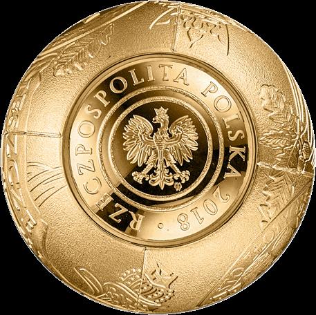 Польша монета 2018 злотых 100 лет восстановления независимости Польши, аверс