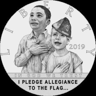 США монета 0,5 доллара 100-летие Американского легиона, реверс