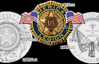 США монета 1 доллар 100-летие Американского легиона
