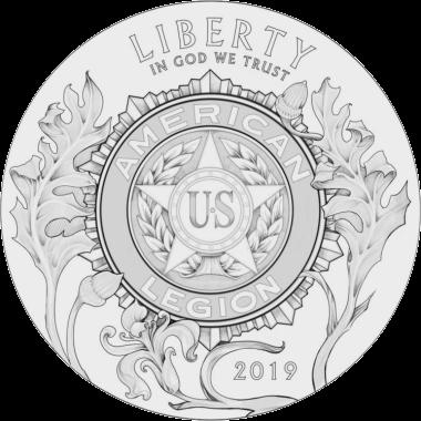 США монета 1 доллар 100-летие Американского легиона, реверс