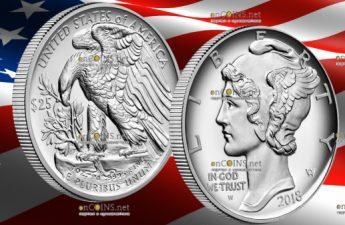 США монета 25 долларов Американский палладиевый орел
