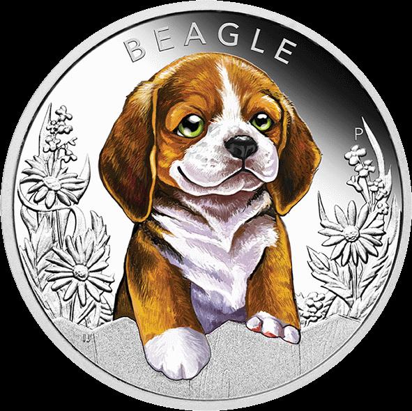 Тувалу монета 50 центов Бигль, реверс
